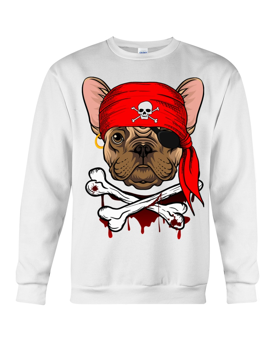 French bulldog Pirate Halloween Costume Crewneck Sweatshirt