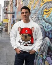 French bulldog Pirate Halloween Costume Crewneck Sweatshirt lifestyle-unisex-sweatshirt-front-2