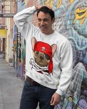 French bulldog Pirate Halloween Costume Crewneck Sweatshirt lifestyle-unisex-sweatshirt-front-4
