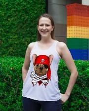 French bulldog Pirate Halloween Costume Ladies Flowy Tank lifestyle-bellaflowy-tank-front-2