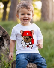 French bulldog Pirate Halloween Costume Youth T-Shirt lifestyle-youth-tshirt-front-4