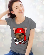 French bulldog Pirate Halloween Costume Premium Fit Ladies Tee lifestyle-holiday-womenscrewneck-front-1