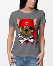 French bulldog Pirate Halloween Costume Premium Fit Ladies Tee lifestyle-women-crewneck-front-10