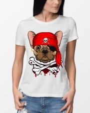 French bulldog Pirate Halloween Costume Premium Fit Ladies Tee lifestyle-women-crewneck-front-10