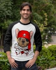 French bulldog Pirate Halloween Costume Baseball Tee apparel-baseball-tee-lifestyle05