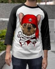 French bulldog Pirate Halloween Costume Baseball Tee apparel-baseball-tee-lifestyle06