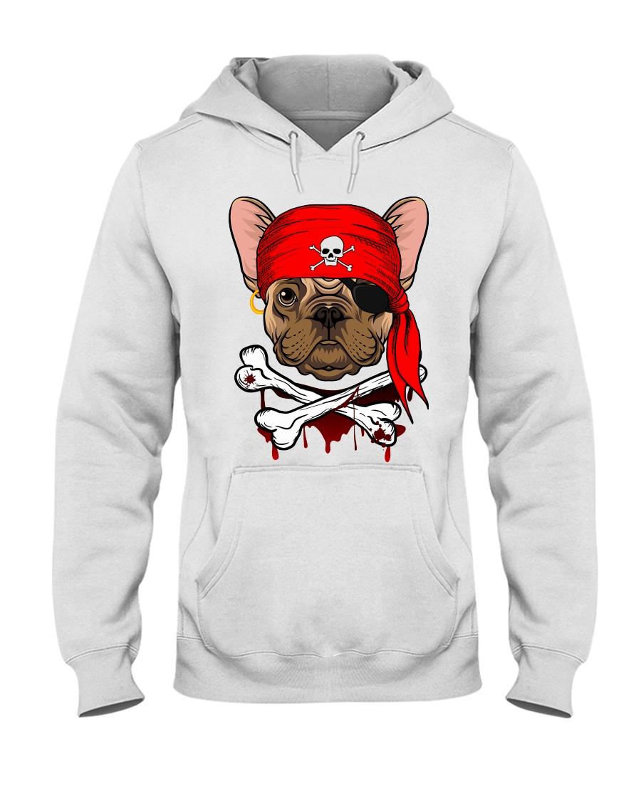 French bulldog Pirate Halloween Costume Hooded Sweatshirt
