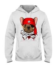 French bulldog Pirate Halloween Costume Hooded Sweatshirt front