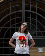 French bulldog Pirate Halloween Costume Ladies T-Shirt lifestyle-women-crewneck-front-1
