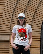 French bulldog Pirate Halloween Costume Ladies T-Shirt lifestyle-women-crewneck-front-4