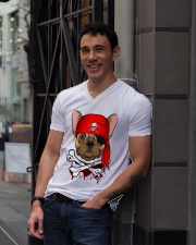 French bulldog Pirate Halloween Costume V-Neck T-Shirt lifestyle-mens-vneck-front-1