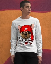 French bulldog Pirate Halloween Costume Long Sleeve Tee apparel-long-sleeve-tee-lifestyle-04
