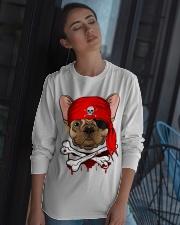 French bulldog Pirate Halloween Costume Long Sleeve Tee apparel-long-sleeve-tee-lifestyle-05