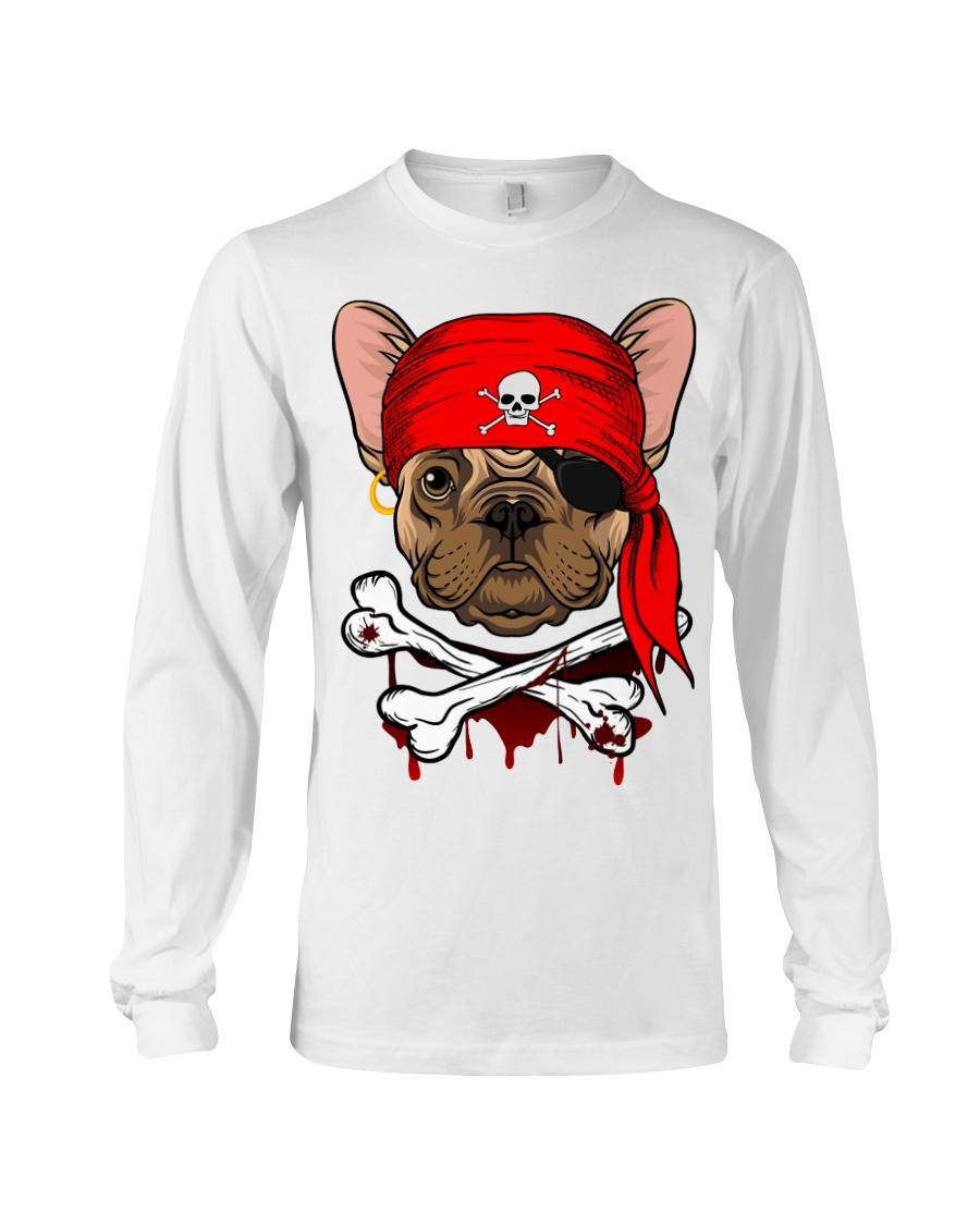 French bulldog Pirate Halloween Costume Long Sleeve Tee