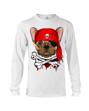 French bulldog Pirate Halloween Costume Long Sleeve Tee front