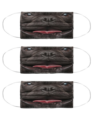 Black Frenchie Face Mask