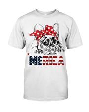 FRENCHIE-MERICA-With-Red-Bandana Classic T-Shirt thumbnail
