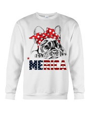 FRENCHIE-MERICA-With-Red-Bandana Crewneck Sweatshirt thumbnail