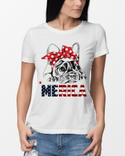 FRENCHIE-MERICA-With-Red-Bandana Premium Fit Ladies Tee lifestyle-women-crewneck-front-10