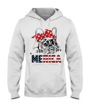 FRENCHIE-MERICA-With-Red-Bandana Hooded Sweatshirt thumbnail