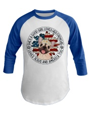 Good Girl Loves Frenchie-Jesus and America Too Baseball Tee thumbnail