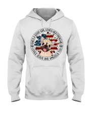 Good Girl Loves Frenchie-Jesus and America Too Hooded Sweatshirt thumbnail