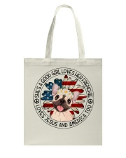 Good Girl Loves Frenchie-Jesus and America Too Tote Bag thumbnail