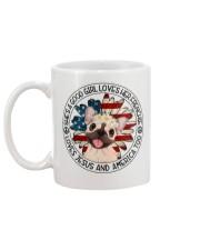 Good Girl Loves Frenchie-Jesus and America Too Mug back