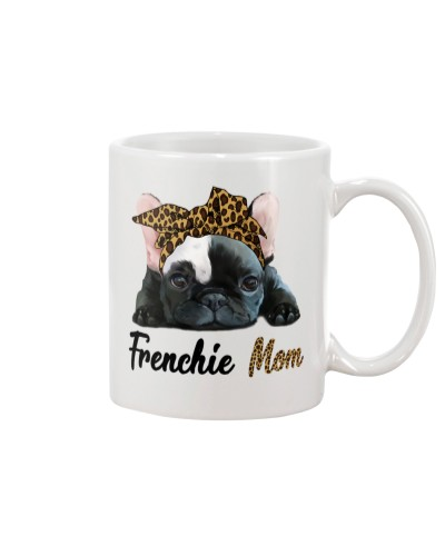 Frenchie Mom Leopard Skin Mug