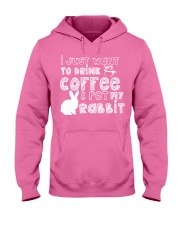 Coffee And Pet My Rabbit T-Shirt Hooded Sweatshirt thumbnail