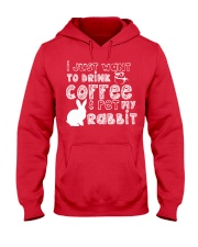 Coffee And Pet My Rabbit T-Shirt Hooded Sweatshirt front