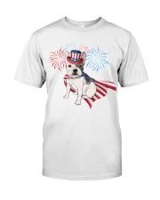 Frenchie America-Cloak Patriot-Hat 4th 7  Classic T-Shirt thumbnail