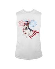 Frenchie America-Cloak Patriot-Hat 4th 7  Sleeveless Tee thumbnail
