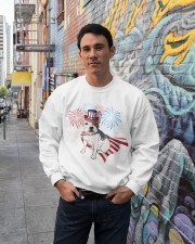 Frenchie America-Cloak Patriot-Hat 4th 7  Crewneck Sweatshirt lifestyle-unisex-sweatshirt-front-2