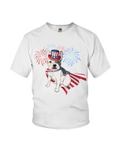 Frenchie America-Cloak Patriot-Hat 4th 7  Youth T-Shirt thumbnail