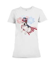 Frenchie America-Cloak Patriot-Hat 4th 7  Premium Fit Ladies Tee front