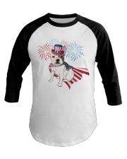 Frenchie America-Cloak Patriot-Hat 4th 7  Baseball Tee thumbnail