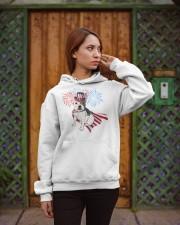 Frenchie America-Cloak Patriot-Hat 4th 7  Hooded Sweatshirt apparel-hooded-sweatshirt-lifestyle-02