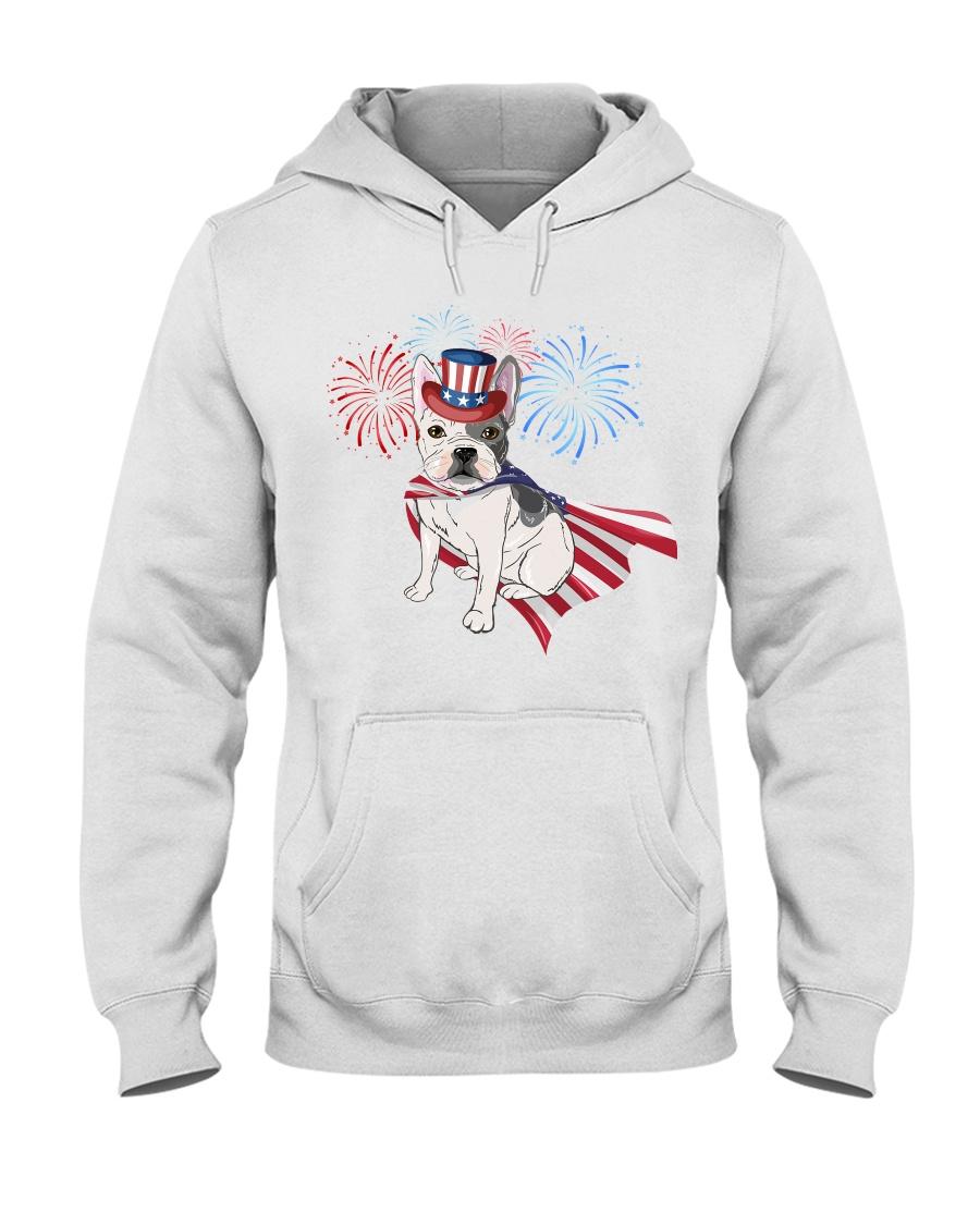 Frenchie America-Cloak Patriot-Hat 4th 7  Hooded Sweatshirt