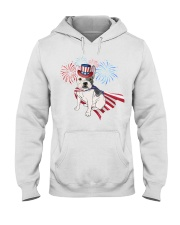 Frenchie America-Cloak Patriot-Hat 4th 7  Hooded Sweatshirt thumbnail