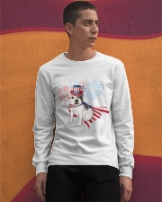 Frenchie America-Cloak Patriot-Hat 4th 7  Long Sleeve Tee apparel-long-sleeve-tee-lifestyle-04