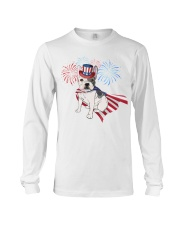 Frenchie America-Cloak Patriot-Hat 4th 7  Long Sleeve Tee front