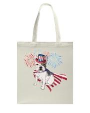 Frenchie America-Cloak Patriot-Hat 4th 7  Tote Bag thumbnail