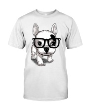 Frenchie Puppy With Glasses T Shirt Premium Fit Mens Tee thumbnail