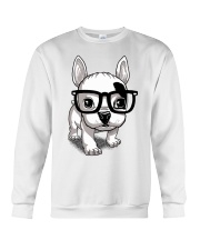 Frenchie Puppy With Glasses T Shirt Crewneck Sweatshirt thumbnail