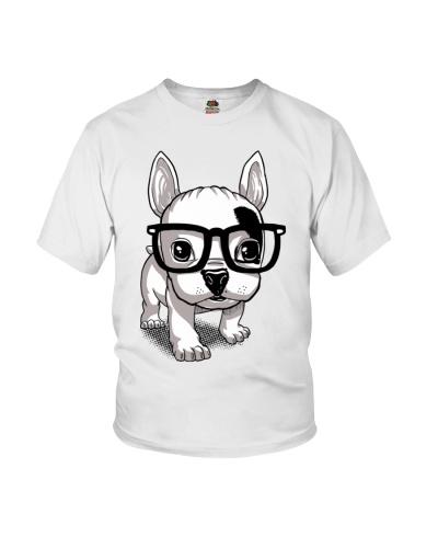 Frenchie Puppy With Glasses T Shirt