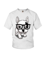 Frenchie Puppy With Glasses T Shirt Youth T-Shirt thumbnail