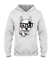 Frenchie Puppy With Glasses T Shirt Hooded Sweatshirt thumbnail