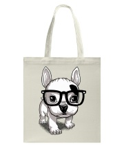 Frenchie Puppy With Glasses T Shirt Tote Bag thumbnail