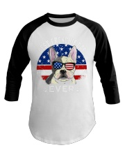 Best America Frenchie Dad Ever  T Shirt Baseball Tee tile